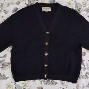 St John collection Santana knit black cardigan S